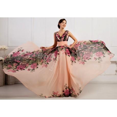 Kwiatowa suknia CL7502