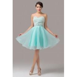 Sukienka na wesele / studniówkę z perłowym gorsetem
