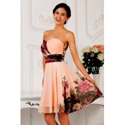 Kwiatowa sukienka CL7501, hurtownia sukienek wieczorowych