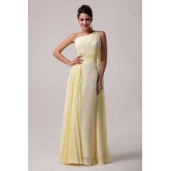Żółta długa suknia CL6066 | hurtownia sukienek